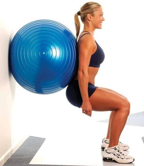 Squats: Exercises for Glutes with an Exercise Ball