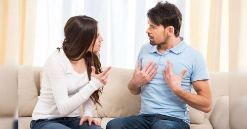 woman and man arguing to establish relationship boundaries