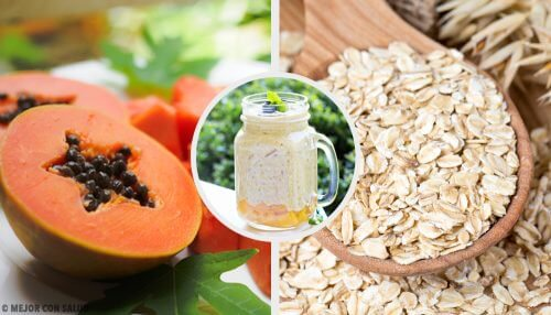 A Papaya-Apple-Oat Shake to Improve Digestion