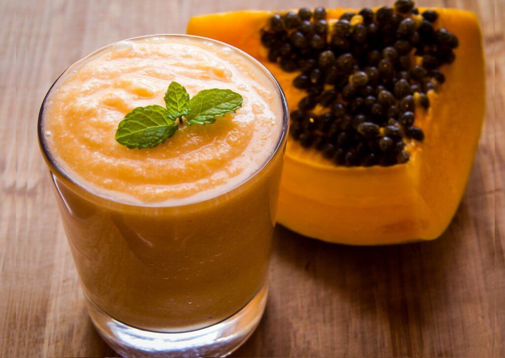 Papaya detox drink