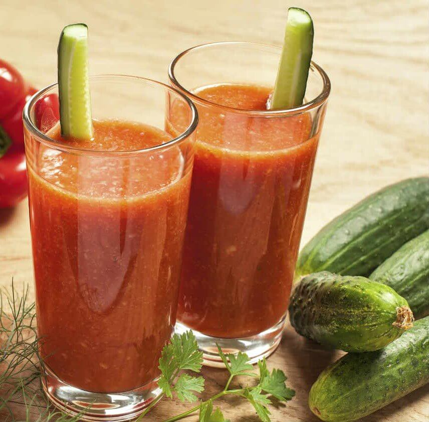 Cucumber and tomato smoothie