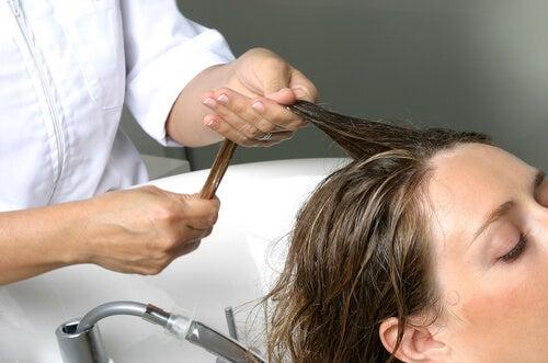 Lotion and a scalp massage