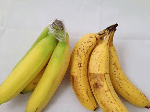 bananas with plastic wrap