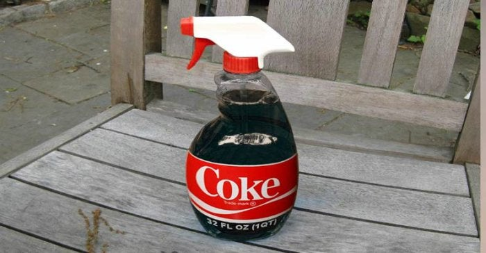 Coca-cola in a spray bottle