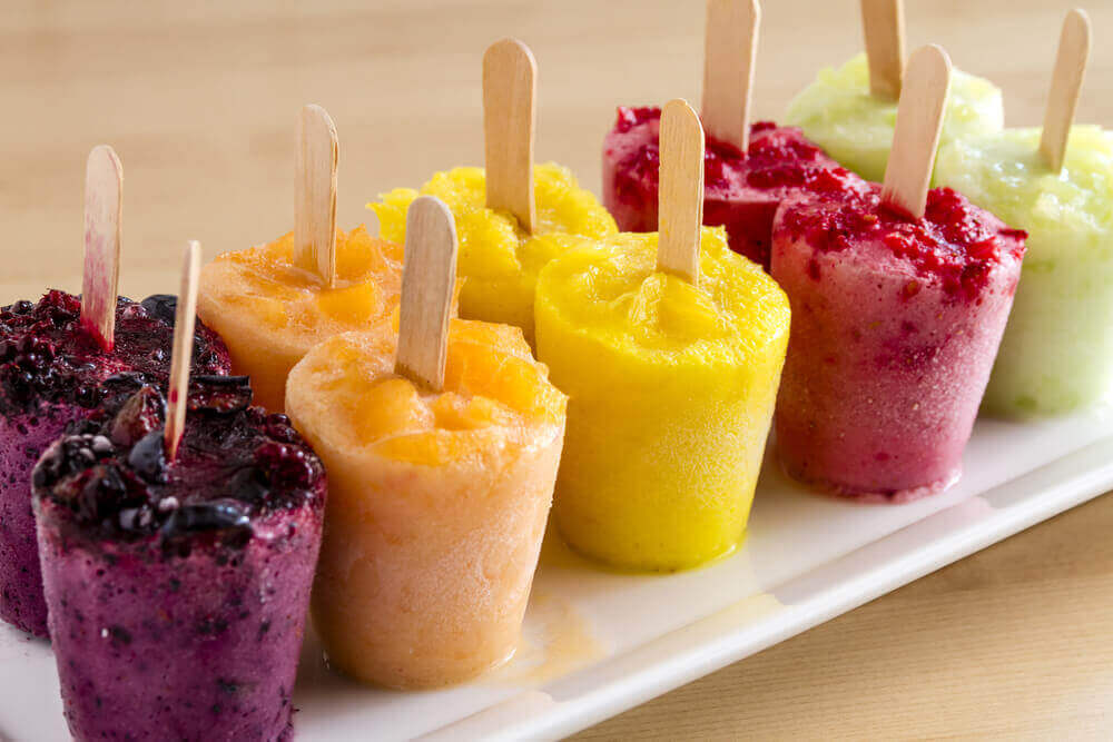 Ice cream popsicles.