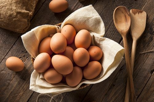 brown organic eggs are a healthy fat source