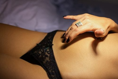 woman's body and black underwear