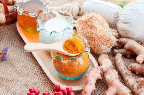 Natural lubricants turmeric milk honey