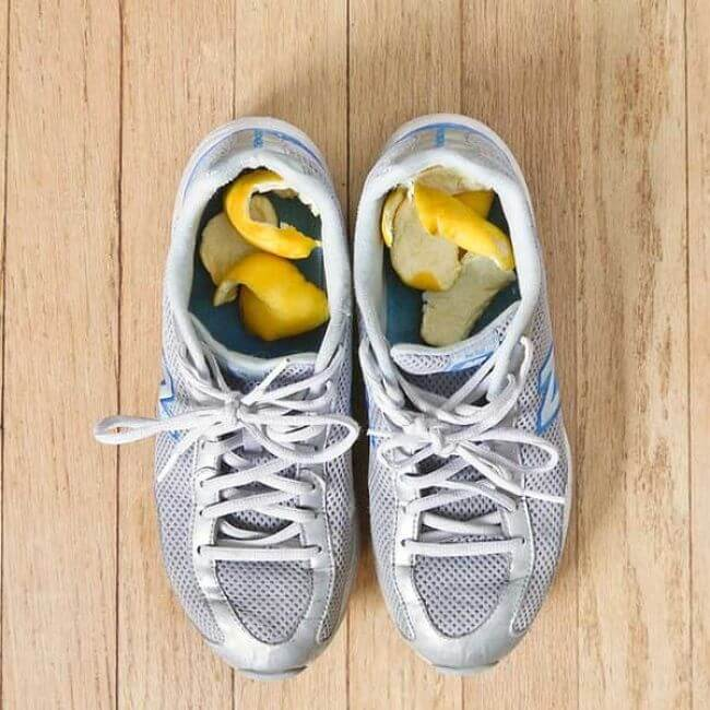 Stinky Shoes with lemon