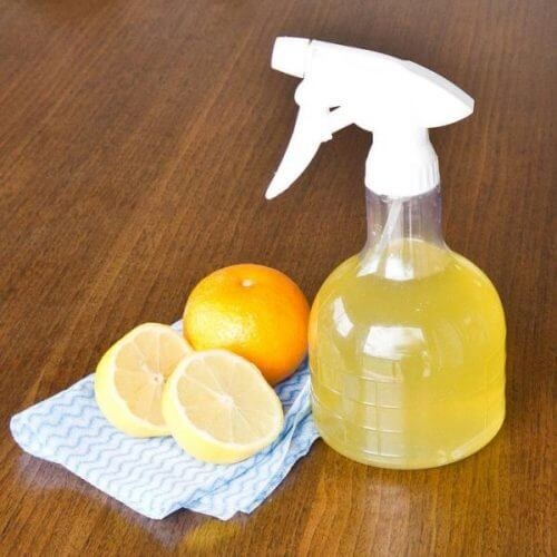 lemons and citrus fruit for an eco-friendly glass cleaner