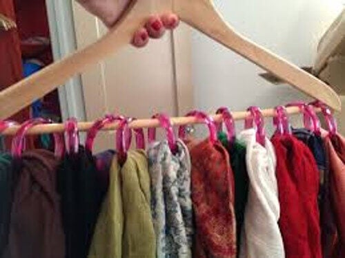 organize your things hangers with scarf rings