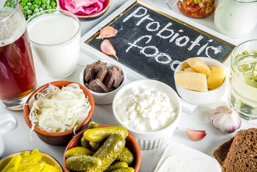 Probiotic foods.
