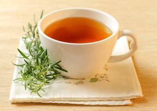 Rosemary and lemon balm tea