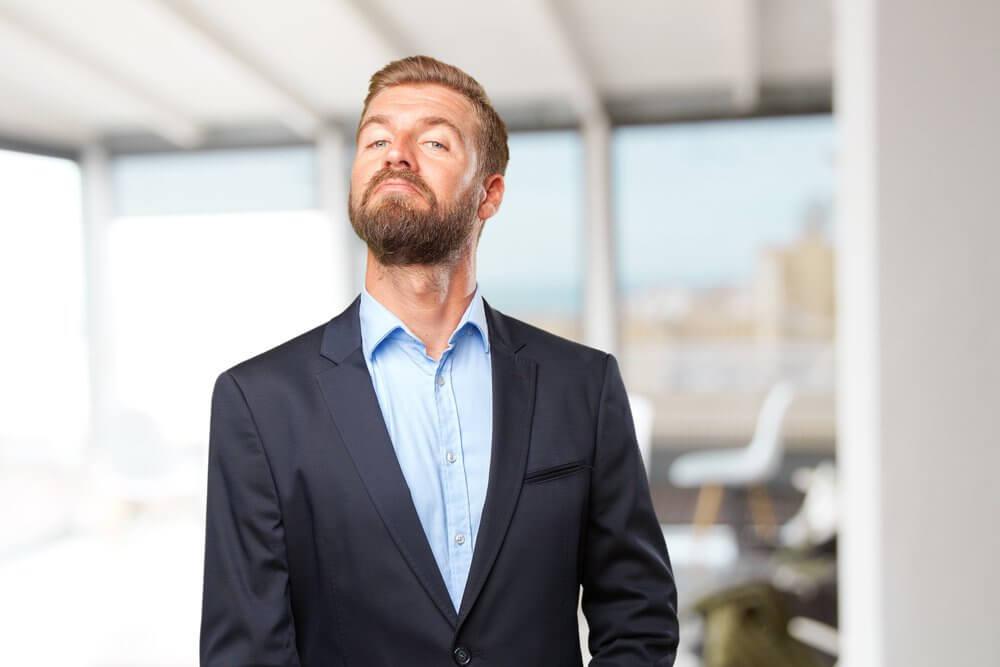 Single man with a beard