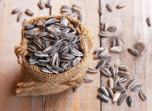 bag of sunflower seeds is a healthy fat source