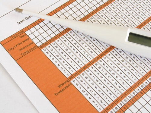 thermometer and temperature chart