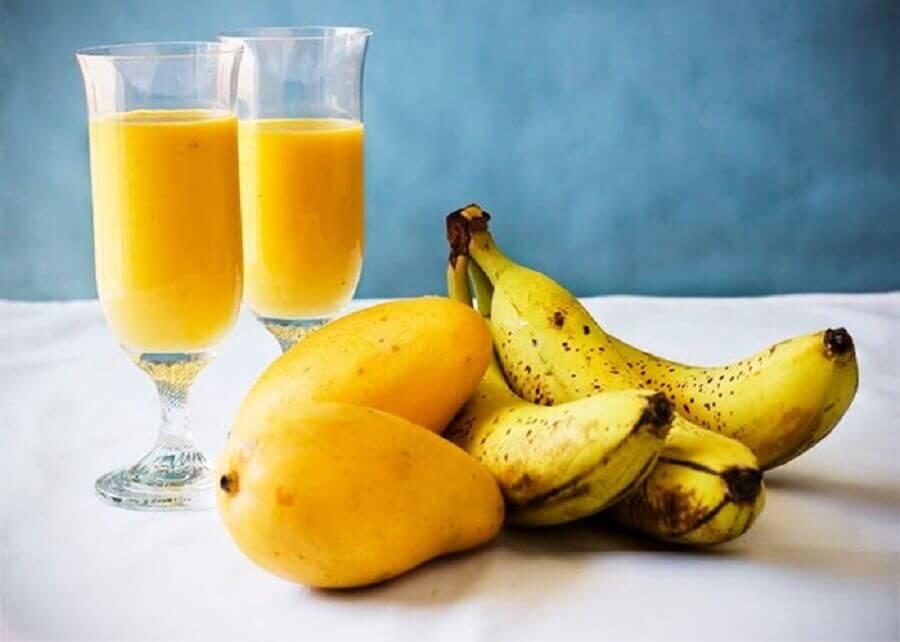 Mango, banana, and lettuce