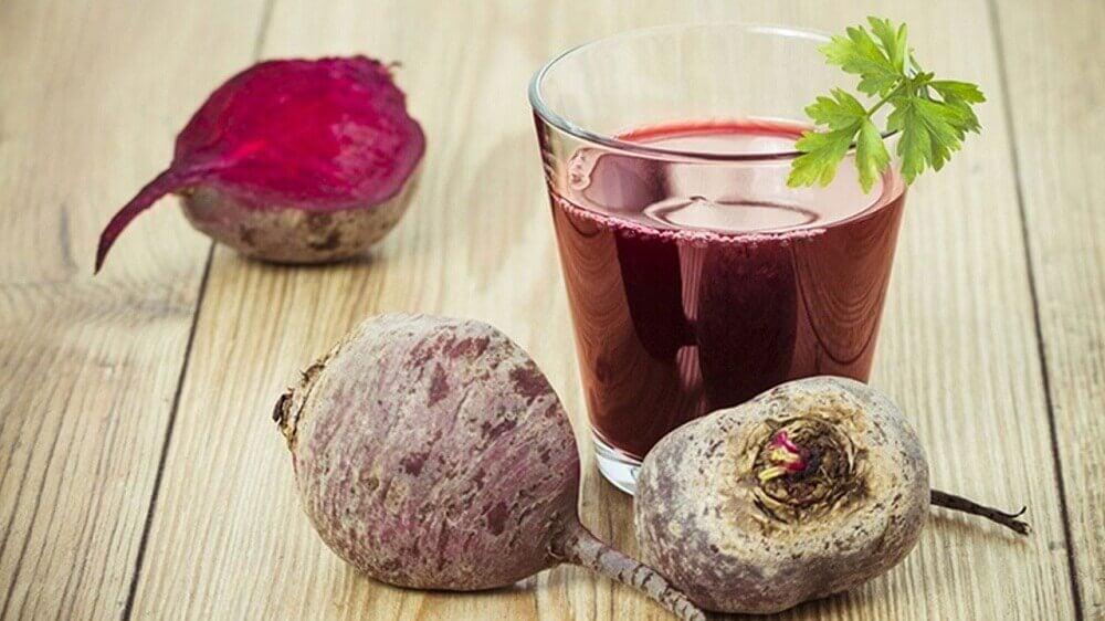 Cranberry, beet, and lemon juice