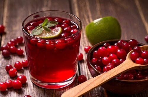 Cranberry and lime infusion