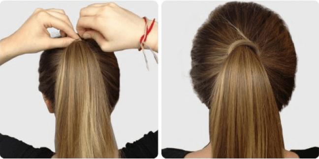 Kvinde med hoej hestehale - smukke frisurer