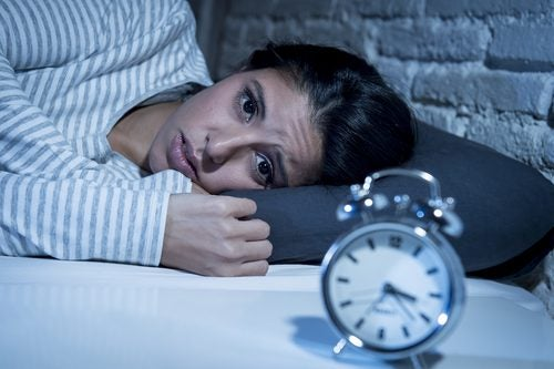 Insomnia can be caused by low serotonin levels.