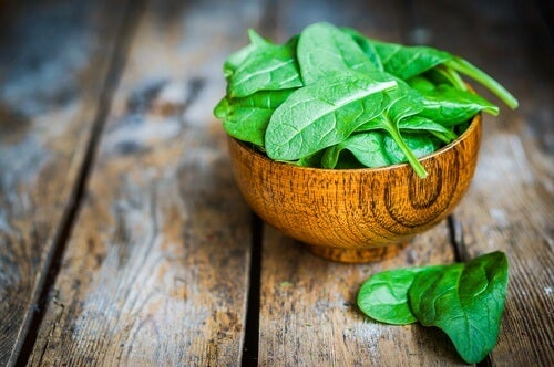 spinach is a great high-protein vegetable