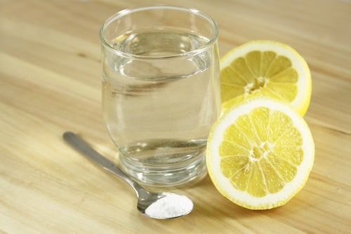 Water, with lemon, salt, and sugar