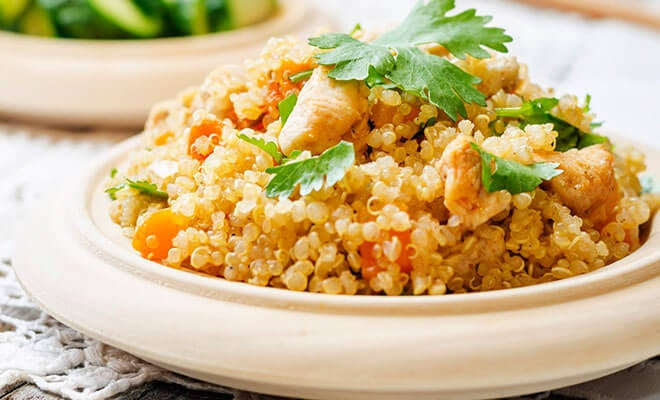 Quinoa with chicken