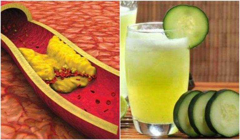 Reduce Cholesterol with Aloe, Cucumber, and Grapefruit Juice