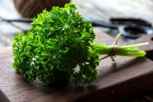 A bunch of parsley.