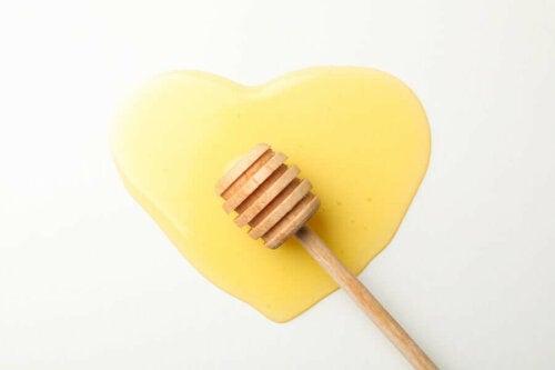 A heart made of honey.