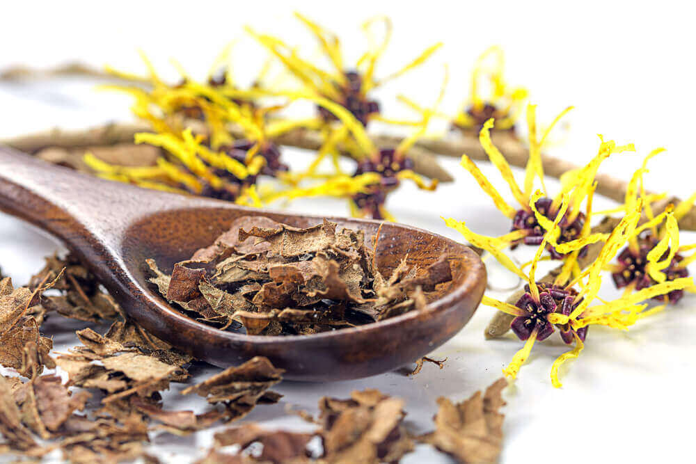 A spoon of witch hazel for breast pain.