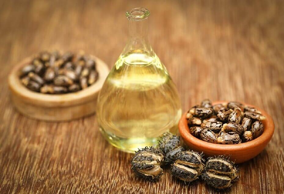 Castor oil and sugar