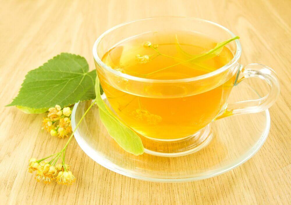 Cup of linden flower tea