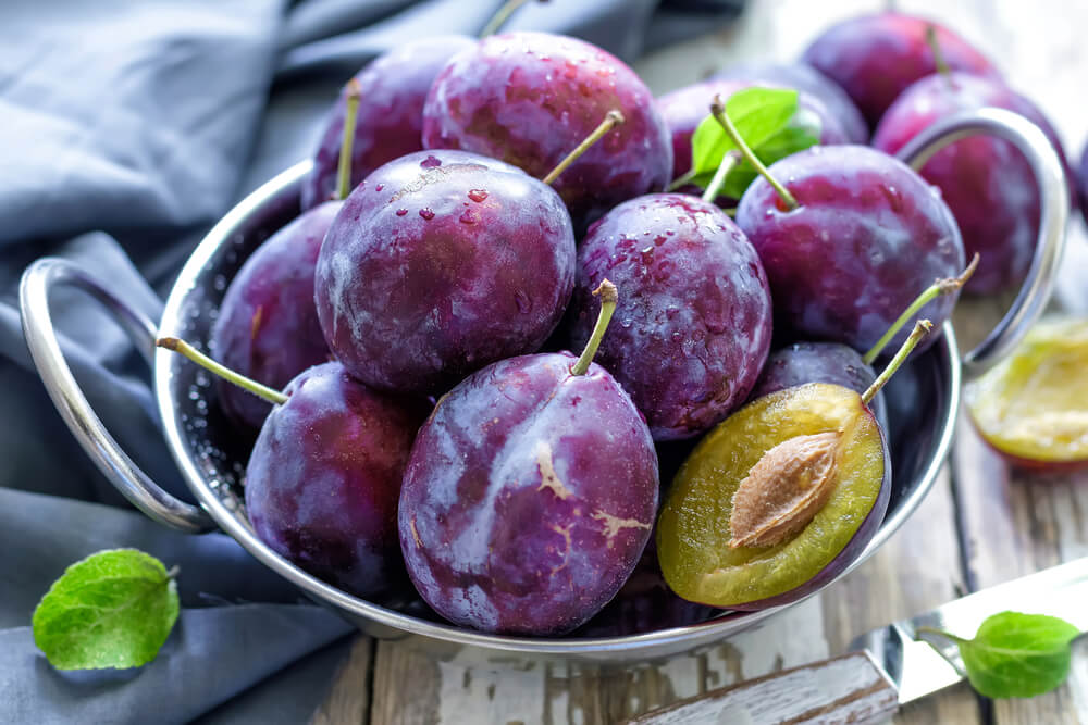Relieve constipation with plums