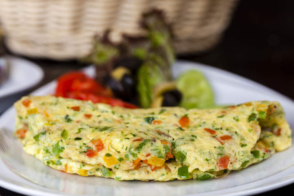 A healthy omelette which helps you lose weight.