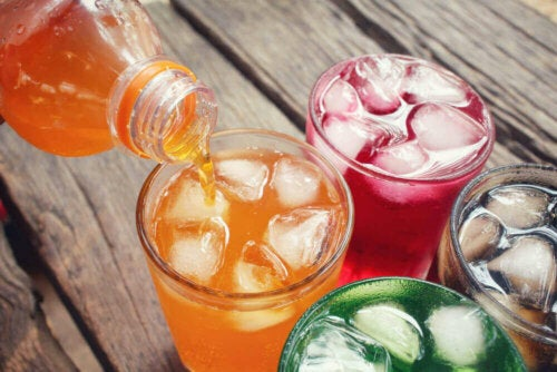 An array of sugary drinks.