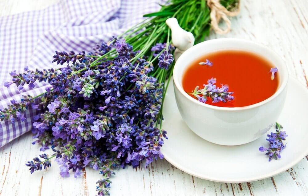 Calm nervousness with lavender infusion