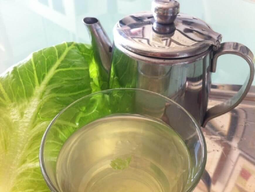 Lettuce leaf tea