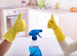 disinfect bathroom