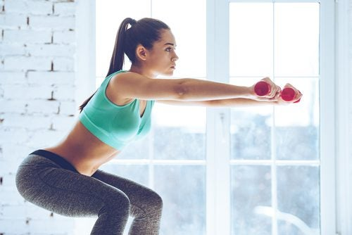 the classic squat will strengthen your glutes and thighs