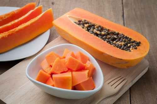 Papaya and prunes
