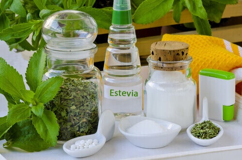 Stevia in different forms