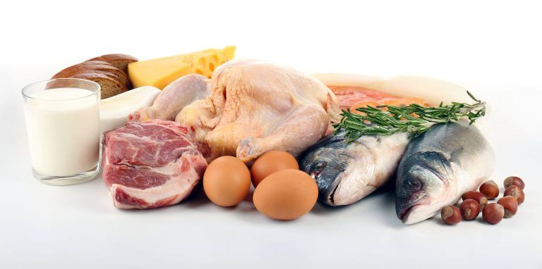Foods with zinc: fish, meat, eggs