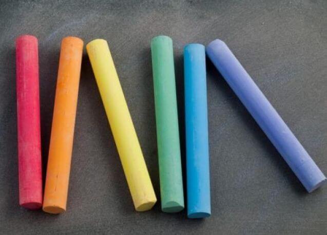 Eggshells to make chalk