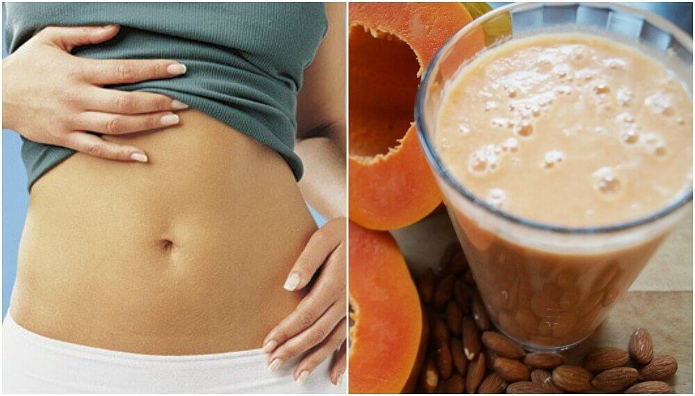 Improve Your Digestion with This Papaya and Almond Milk Smoothie