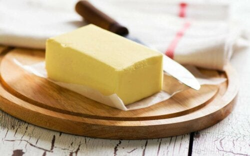 Some butter which you should avoid eating before bed.