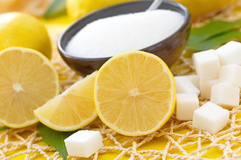 Exfoliate your skin with lemon and sugar