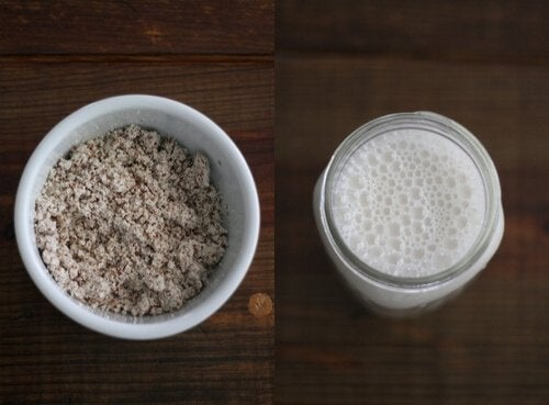 this white smoothie is filled with coconut ginger and almond