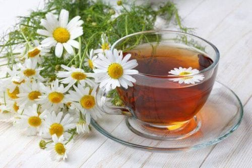 Tea with chamomile cough syrups for dry cough